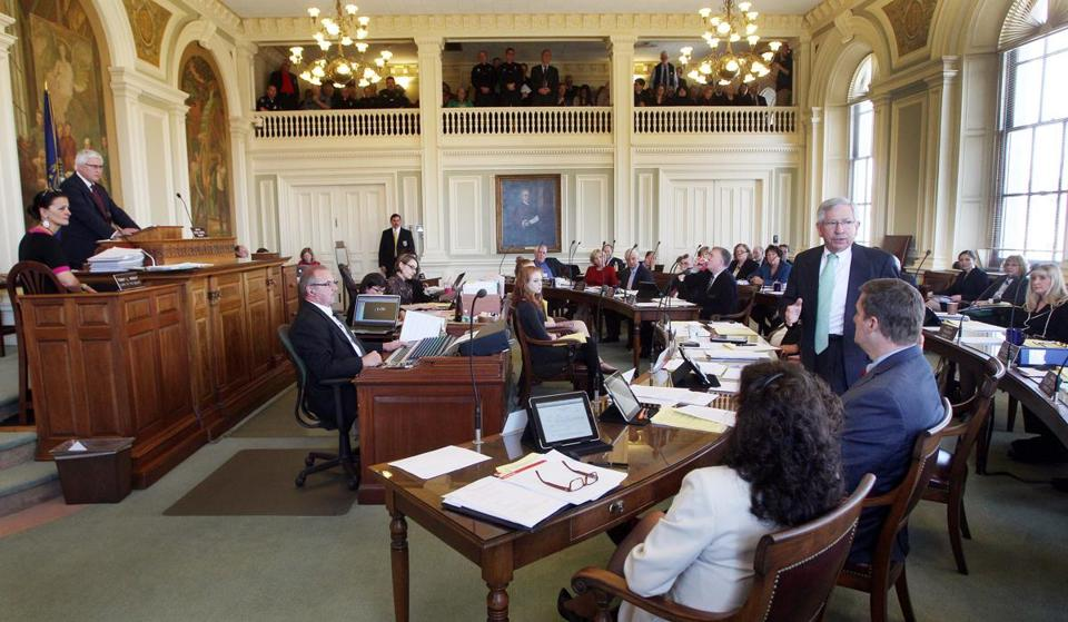 New Hampshire state Sen. Bob Odell spoke in favor of repealing the state's death penalty.